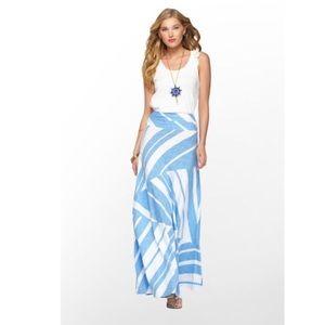 Lilly Jolene Blue and White Maxi Skirt